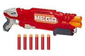 nerf elite mega double breach